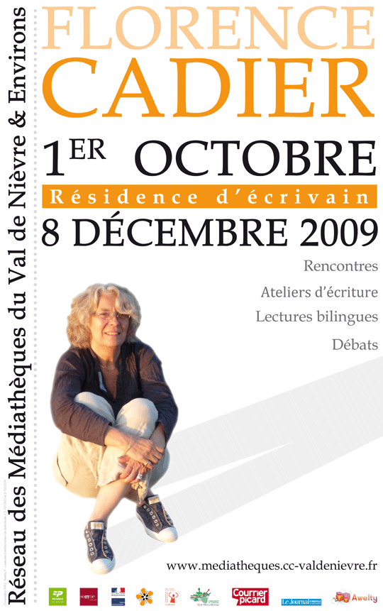 Affiche résidence Florence Cadier