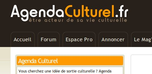 agenda culturel onglets portail