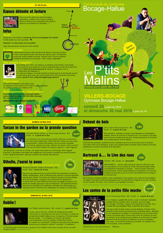 Plaquette Festival Les P'tits Malins