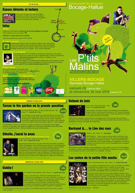 Plaquette Festival Les P'tits Malins